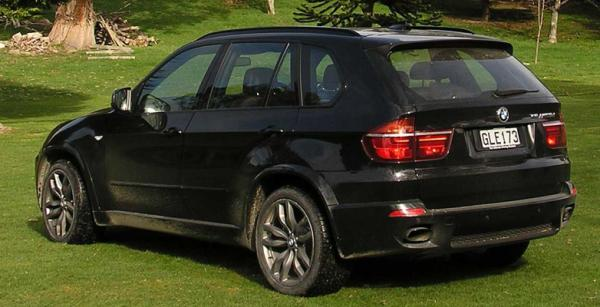 The BMW XS M50d at Owaka Golf Club.