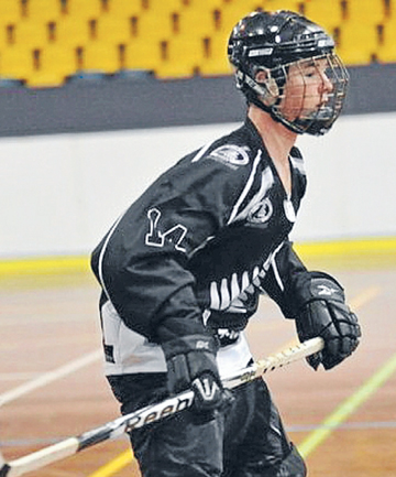 CAPTIVATED: Hamilton Devils player Cameron Huntingdon is enthusiastic about a sport that Kiwis have little knowledge of.