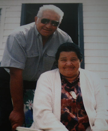 DEDICATED COUPLE: Alex Tairoa with his late wife Margaret.
