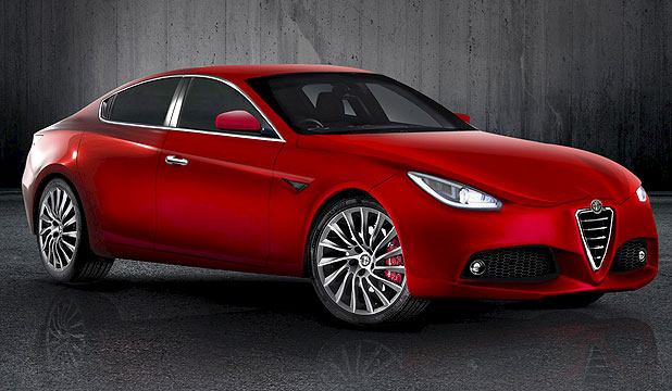 An artist's impression of the 2014 Alfa Romeo Giulia.