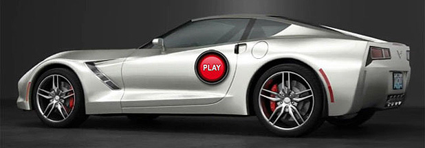 An artist's impression of the new Corvette C7.