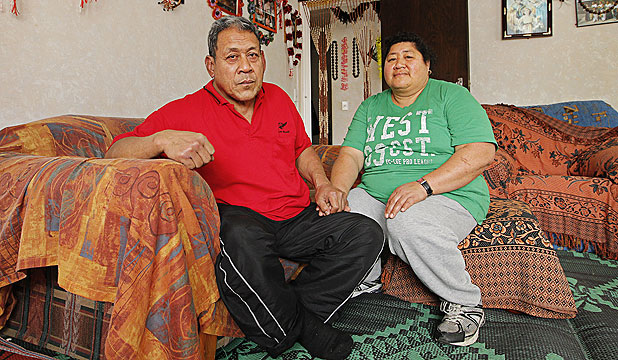 TOILING ON: Cleaners Venu Lam Sam, 56, left, and Tatupu Lam Sam, 49, are struggling to make ends meet.