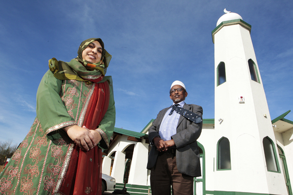 'ABSOLUTELY WELCOME': Anjun Rahman and Ismail Gamadid are organising an open day at Hamilton Mosque to educate the public about Islam and its role within the Waikato community.