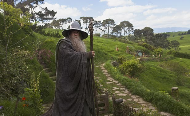 Sir Ian McKellen as Gandalf in The Hobbit
