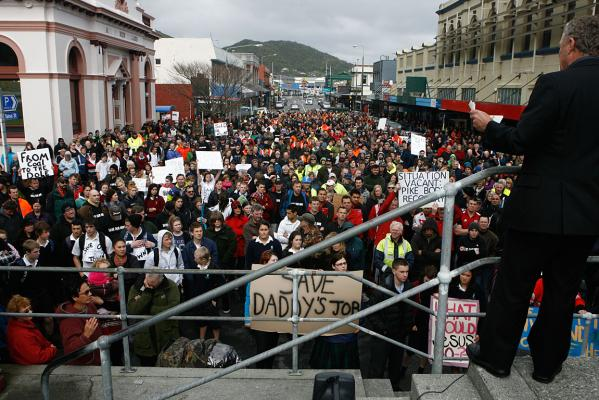 Greymouth protest