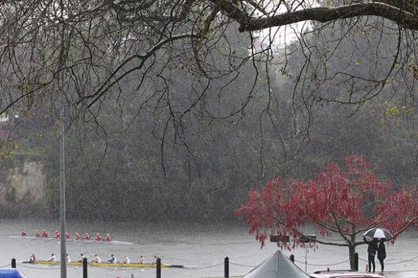 WILD WEATHER: Waikato's weather took as many twists and turns as the Great Race itself yesterday.