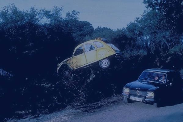 The Citroen 2CV (yellow vehicle) from the James Bond movie, For Your Eyes Only (1981).