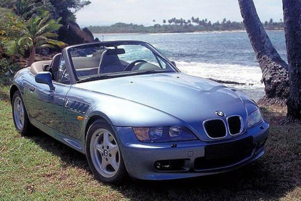 The BMW Z3 from the James Bond movie GoldenEye (1995).