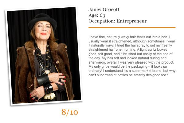 Janey Grocott reader road test