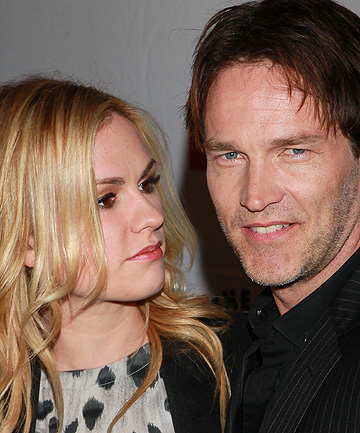 'I MISS HIM WHEN HE LEAVES': Anna Paquin with husband and True Blood co-star Stephen Moyer.