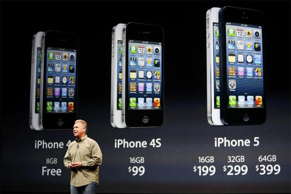 Phil Schiller, senior vice president of worldwide marketing at Apple, speaks about iPhone 5 pricing.