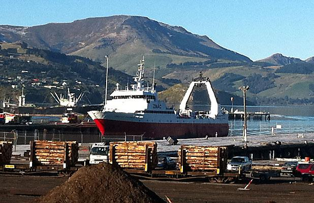 Amaltal Columbia in Lyttelton port