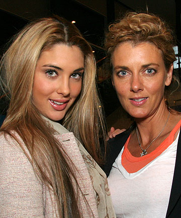 SHINING THROUGH: Mother and daughter socialites Sally and Jaime Ridge toasted the premi