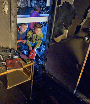 Arson house open home