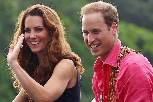 Kate and William in Solomon Islands