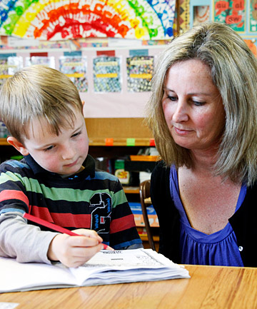 Linda Spray with her 5-year-old son Oliver