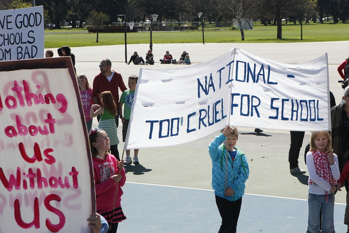 Protest against Canterbury schools reforms, 22 September 2012