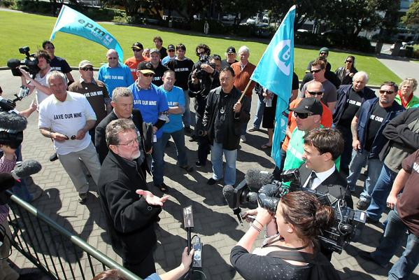 West Coast miners at Parliament