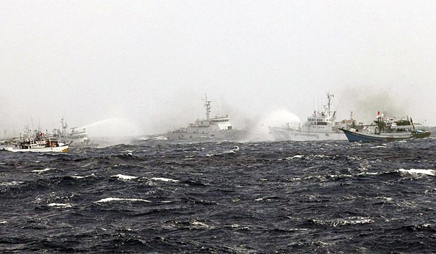 Japan Coastguard fires on Taiwan boats