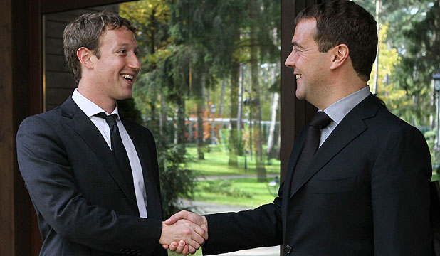 Mark Zuckerberg and Dmitry Medvedev