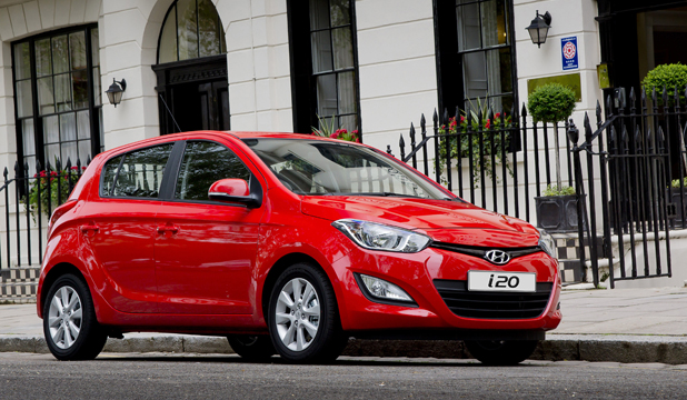 The Hyundai i20.