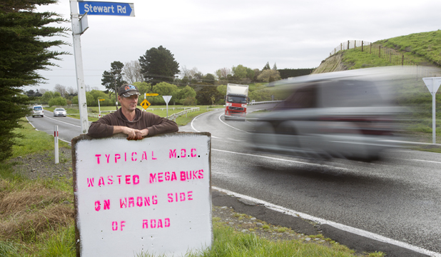 Trevor Smart - Awahuri Feilding Rd and Stewart Rd intersection