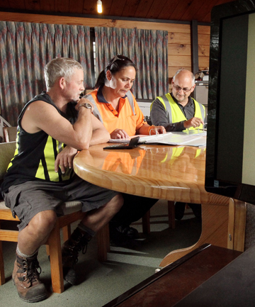 FIGURING OUT FIGURES: Thames Timber sawmill staff brush up on their basic maths by using everyday life analogies.