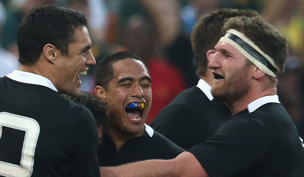 Kieran Read, Aaron Smith and Dan Carter