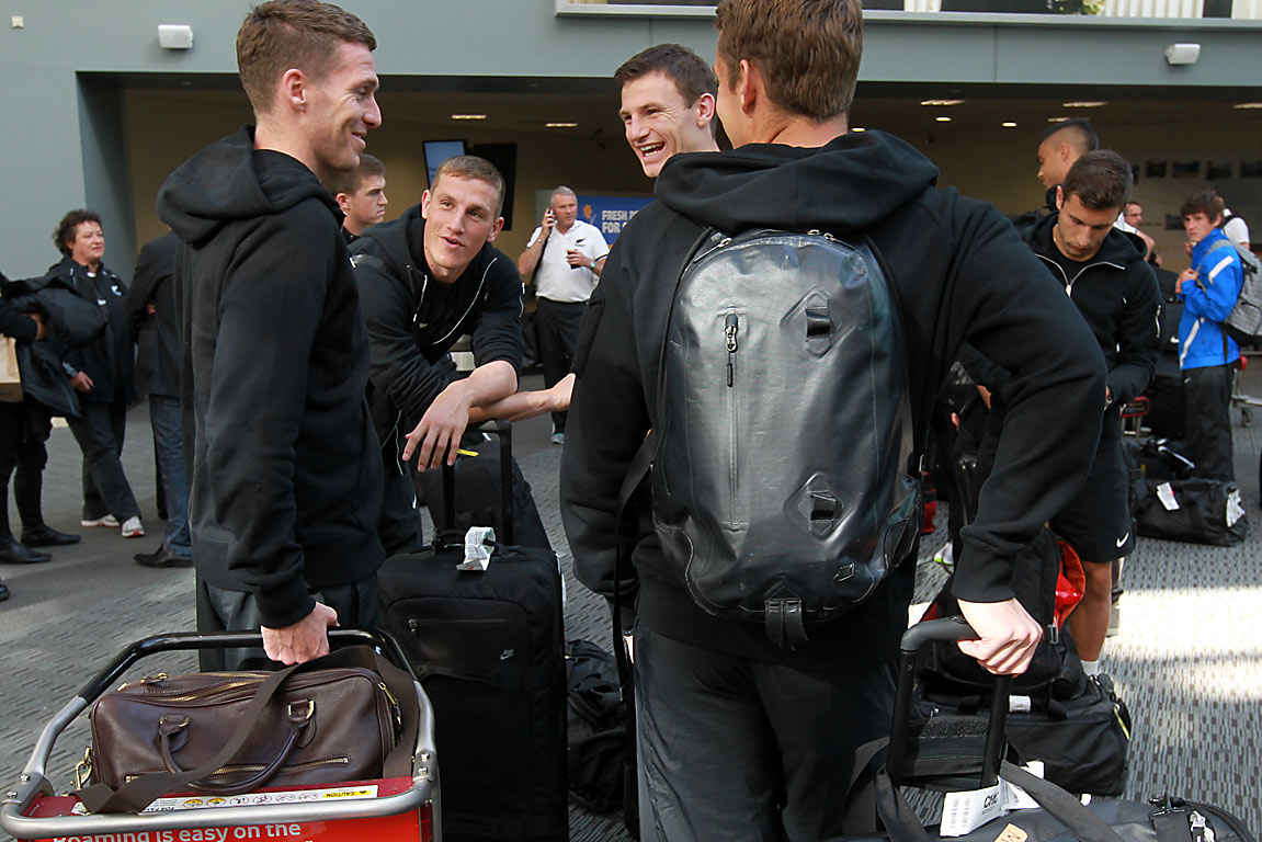 All Whites arrive in Christchurch