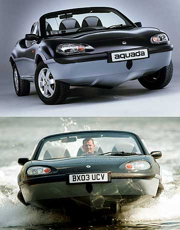 The Alan Gibbs engineered amphibian Aquada car that was unveiled in 2003.
