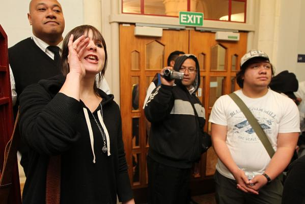 Auckland University student protest