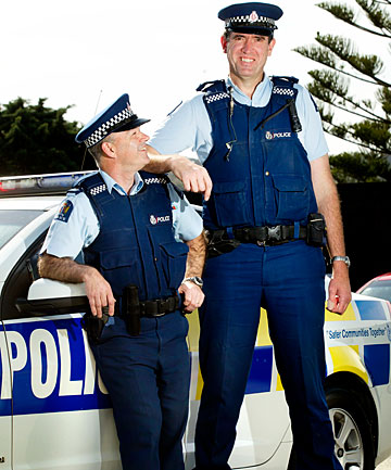 Constable Paul Randall, right, with Sergeant Steve McCormick