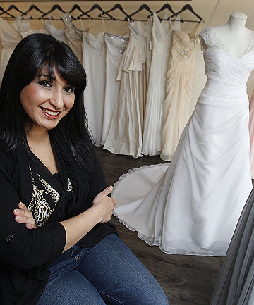 PERSONAL SERVICE: Rasha Taylor in her bridal store in Upper Hutt.