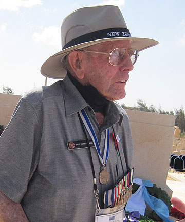 HONOURING THE DEAD: Kiwi veteran Harry Spencer, 96, of Hastings, at El Alamein.
