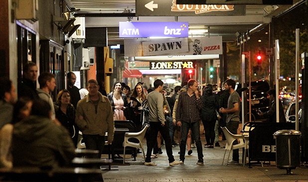 PRESSURE POINT: A night on the town in Hamilton. The Alcohol Reform Bill includes reining in supply and irresponsible marketing.