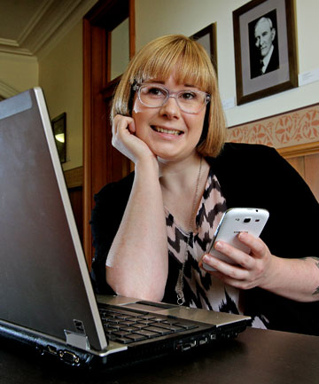 Vanessa Haggie grew up sending text messages  and is now a big  user of Twitter and Facebook