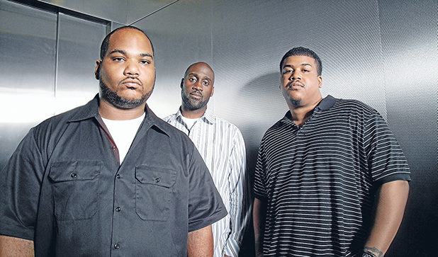 DE LA SOUL: From left, Vincent Mason (Mase, Maseo, Pasemaster, Plug 3), Kelvin Mercer (Posdnuos, Pos, Plug 1) and David Jude Jolicoeur (Trugoy, Plug 2 or, more recently, just Dave).