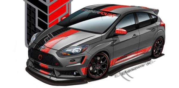 A Ford Focus concept for the 2012 SEMA show in Las Vegas.