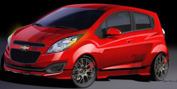 Chevrolet's Spark concept for the 2012 SEMA show in Las Vegas.