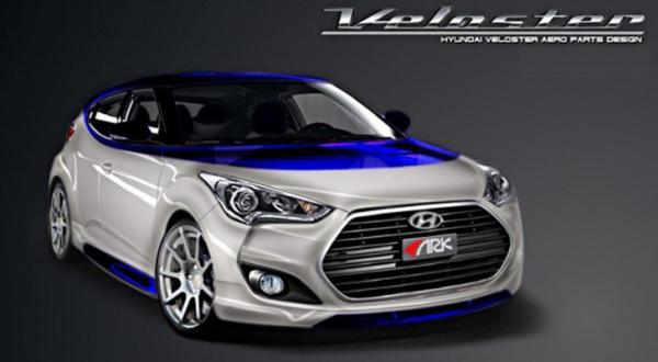 The Hyundai Veloster concept for the 2012 SEMA show in Las Vegas.