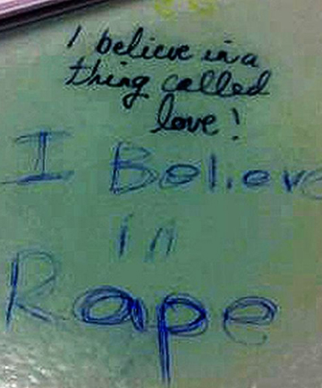 Rape graffiti
