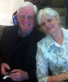 Jetstar passengers Ann and Tony Murphy