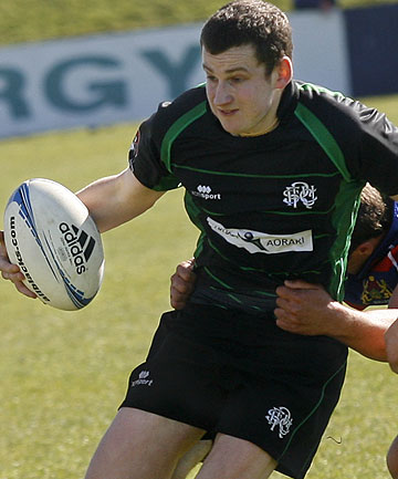 Liam Edwards scored all South Canterbury's points in the first half of the Lochore Cup final against Buller.
