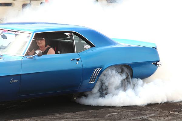 Scrap Palace's Fifth Burnout Competition took place just outside Morrinsville on Saturday and with it came smoke, noise, bourbon and black T-shirts.