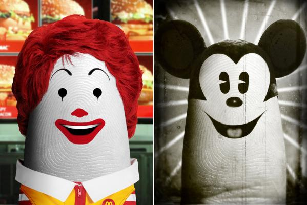 Dito Ronald McDonald and Dito Mickey Mouse