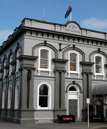 The BNZ Bank building has stood on Hamilton's Victoria St since 1878