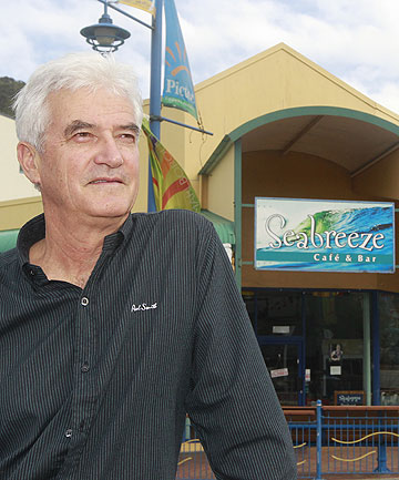 BAD FOR BUSINESS: Picton's Seabreeze Cafe owner Jules Terry  is concerned about how the town would cope if the ferry terminal was shifted to Clifford Bay.