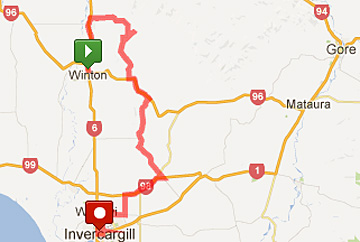 Tour of Southland map, stage 8
