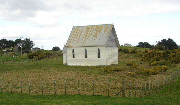 An old church at on Awhitu Rd, west of Auckland.
