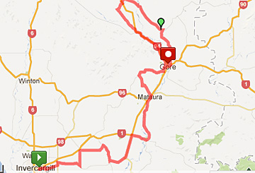 Tour of Southland map, stage 6